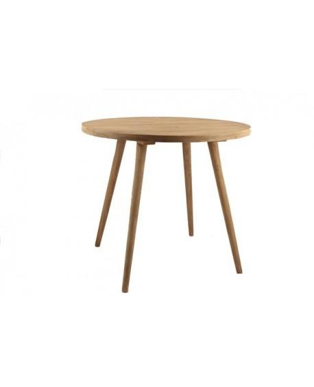 Tavolo tondo legno naturale nord for Tavolo tondo legno
