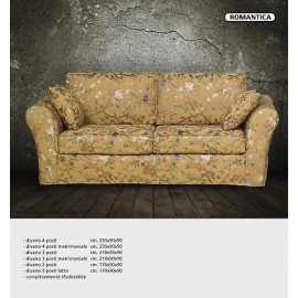 SOFA 4 PLACES DIFFERENT COLORED FABRICS AND LEATHER