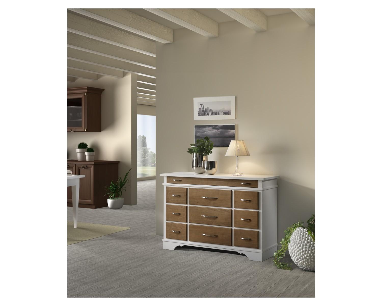 Credenza Moderna Bicolore : Credenza dispensa country provenzale laccato bicolore legno