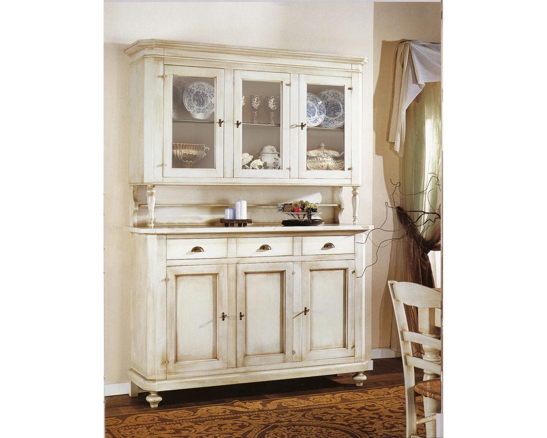 Credenza Con Cristalliera : Mobile credenza vetrina cristalliera legno vari colori avorio bianco