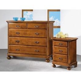 Como 39 5 cassetti legno massello x camera da letto for Como x camera da letto