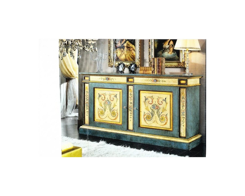 Credenza Con Cesti : Credenza decorata con segr legno massello