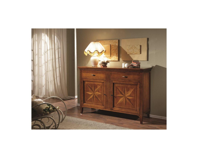 Credenza Con Intarsi : Credenza porte cassetti legno massello con intarsio codluis