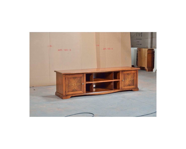 Credenza Bassa Da Giardino : Mobile panca porta tv credenza bassa legno massello intarsiata