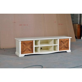 MOBILE TV STAND WOOD BENCH - codluis 1005