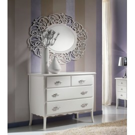 CREDENZA COMO 4 DRAWERS GLOSS WHITE WOOD L 112 P 53 H 91
