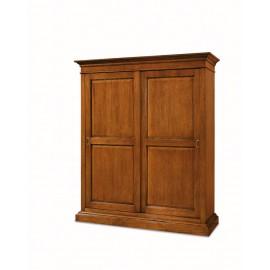 armadio ante scorrevoli in legno massello