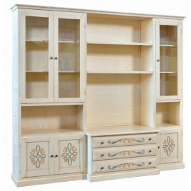 WALL ROOM DOOR TV CABINET DECORATED IVORY brushed - codluis 1059