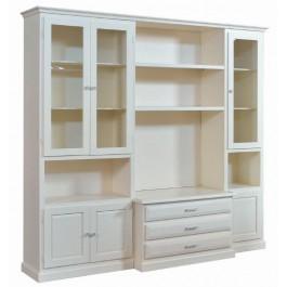 wall antichambre meuble tv avec blanc divoire codluis 1060