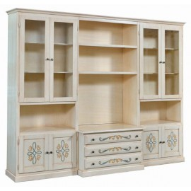 WALL ROOM DOOR TV CABINET DECORATED IVORY brushed - codluis 1061