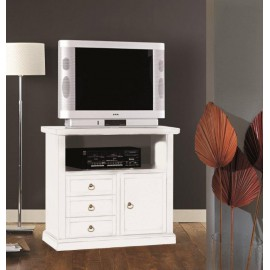 TV STAND WOOD MATT WHITE - codluis 308
