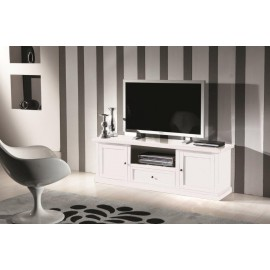 TV STAND WOOD MATT WHITE - codluis 309