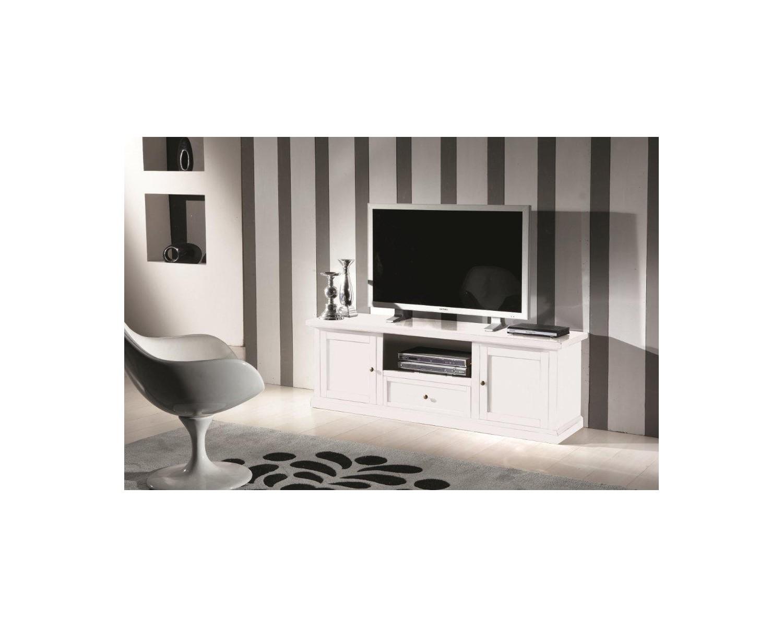 Porta Tv Bianco Opaco.Porta Tv Legno Bianco Opaco Codluis 309