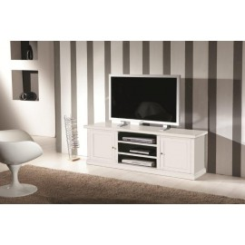 TV STAND WOOD MATT WHITE - codluis 310