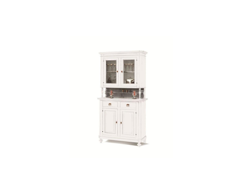 Credenza Con Puertas : Cristalliera vitrina 2 puertas cajones señalización en blanco