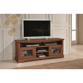 TV STAND WOOD WALNUT COLOR clear- codluis 354