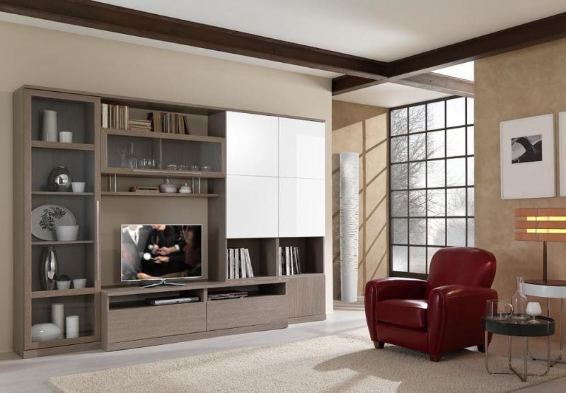 Soggiorno Arte Povera Moderno : Parete da soggiorno moderno porta tv vari colori frassinato e lucido