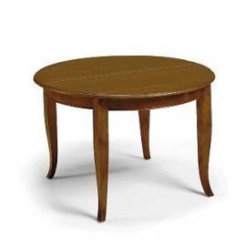 BOIS Table à rallonge ROUND POOR ART L. 120 + 40