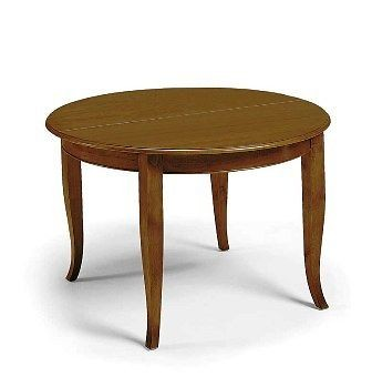 TISCH Holz-Kunst L. ROUND POOR EXTENDING 120 + 40