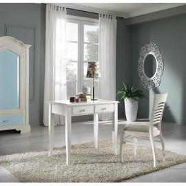 DESK TABLE GLOSS WHITE WOOD