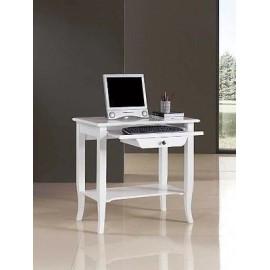 BOIS AVEC PC TABLE LACCATP BLANC