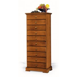 DRAWER SOLID WOOD L. 58 P. 41 H. 145 WALNUT COLOR DIFFERENT COLORS