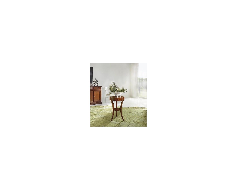 Tavolo salotto rotondo 3 gambe legno massello in legno for Tavolo rotondo legno chiaro