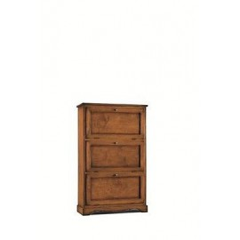 MOBILE SHOE CABINET 3 DOORS DOUBLE DEPTH '