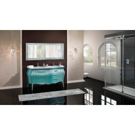 BATHROOM FURNITURE COLOR DOME Turquoise FURNITURE LACQUERED HANDLES VARIOUS COLORS SWAROVSKIDESIGN VENETO