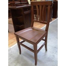 Sedia 4 pezzi sedie legno massello arte povera noce cucina sala bar ristorante - Sedie in legno per cucina ...